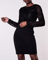 Doris Short Dress Black/Glitter