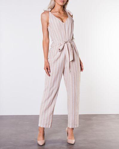 bafad305ab1 Krissy Jumpsuit Beige/White/Striped