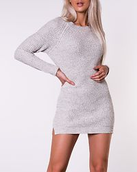 Siesta O-Neck Knit Dress Oatmeal