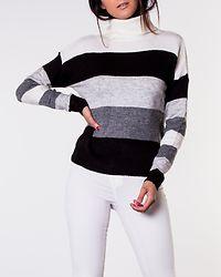 Nora Treats Rollneck Pullover Dark Grey Melange/Stripes