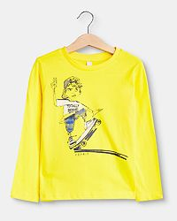 Skate Longsleeve Shirt Yellow