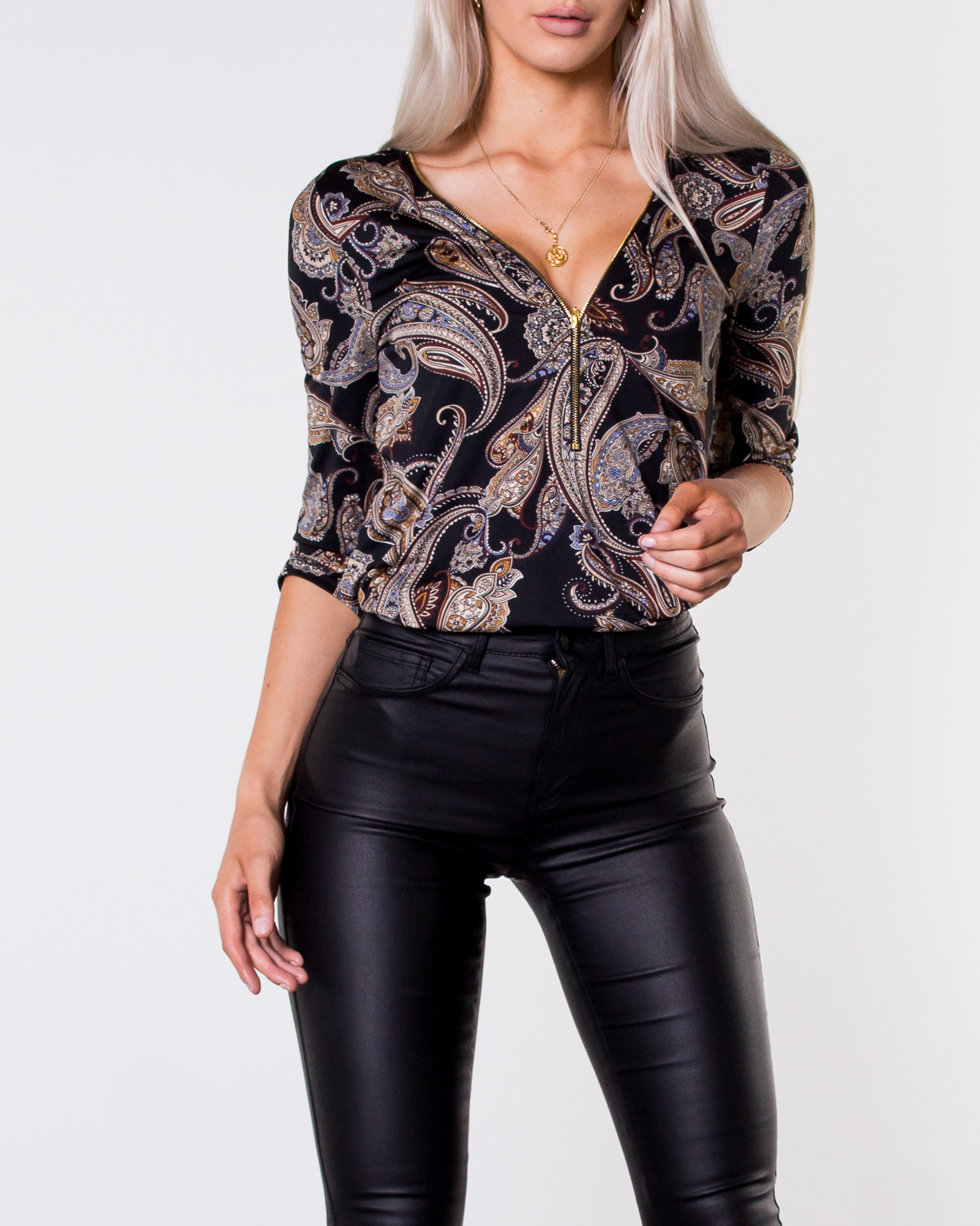c54ed932a01b Happy Holly, Marion Top Patterned/Paisley | Women's Shirts and ...