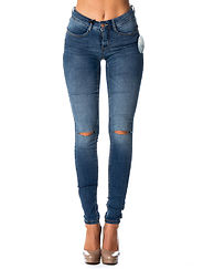 Vera Superstrech Jeans Medium Blue