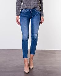 Kimmy Ankle Zip Jeans Light Blue Denim