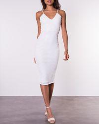 Valerie Sequin Midi Dress White