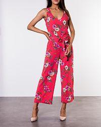 Trick Treats Jumpsuit Cayenne/Pink Flower