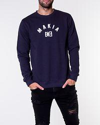 Brand Sweatshirt Dark Blue