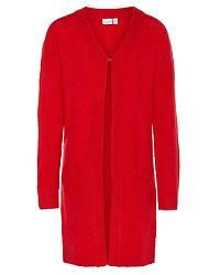 Fia Long Knit Cardigan True Red