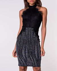 Evelyn Midi Dress Black/Silver