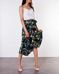 Villima Midi Skirt Black/Patterned