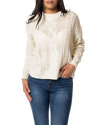 Wale Cable O-Neck Blouse Pristine