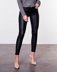 Lucy Deluxe Coated Pants Black