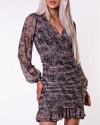 Tegan Mesh Short Dress Black/Mix Animal