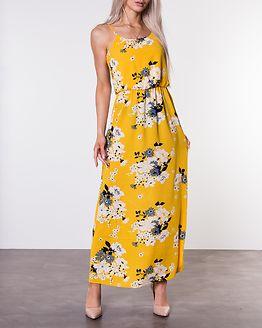 Winner Maxi Dress Vibrant Yellow/Mie Flower