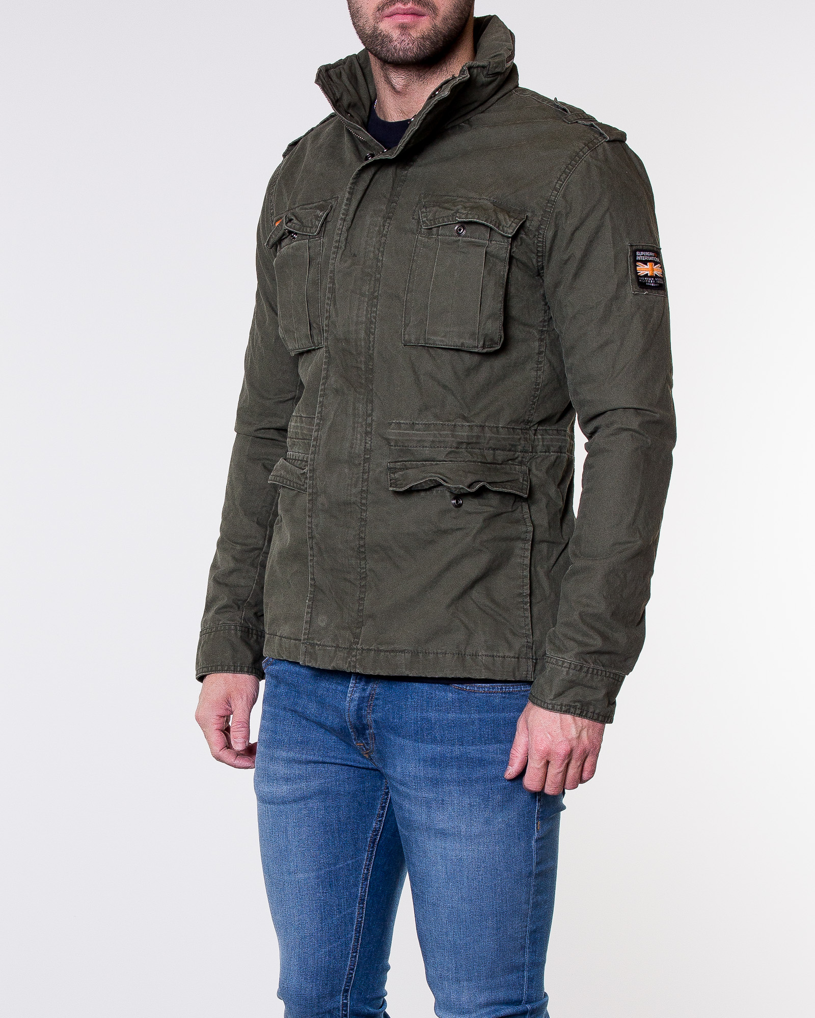 pretty nice 8ee85 98658 Superdry, Classic Rookie Military Jacket Patrol Khaki ...