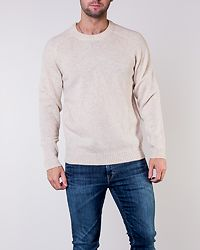 New Coban Wool Crew Neck Bone White Melange