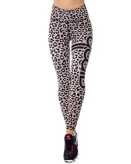 Cheetah Tights Grey/Black