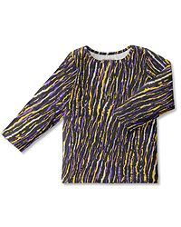 Snapper Shirt OLA / Africa Stripes Lilac-Yellow