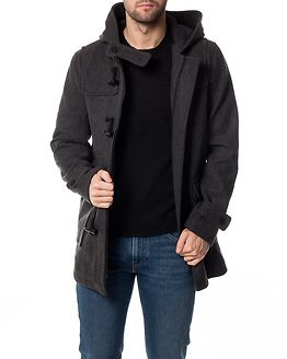 Ebbe Duffelcoat Dark Grey Melange