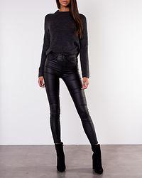 Ellen O-Neck Knit Dark Grey Melange