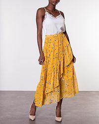 Sheena Mid Skirt Mango Mojito/Flower