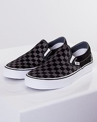 Classic Slip-On Black/Pewter Checkerboard