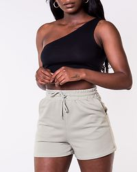 Kerry One Shoulder Cropped Top Black