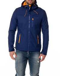 Hooded Windtrekker Royal Marl/Orange