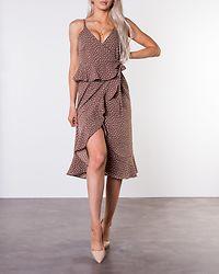 Analisa Dress Brown/White/Dotted