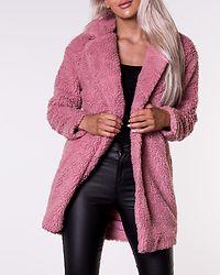Aurelia Sherpa Coat Dusty Rose