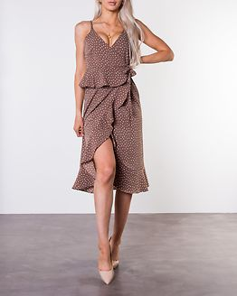 Analisa Dress Brown/White/Dotted