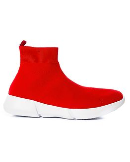 Knit Sneaker High Red