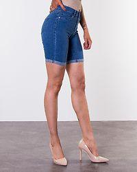 Rain Mid Long Shorts Medium Blue Denim