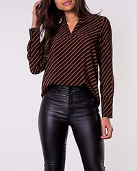 Jane V-Neck Blouse Black/Tortoise