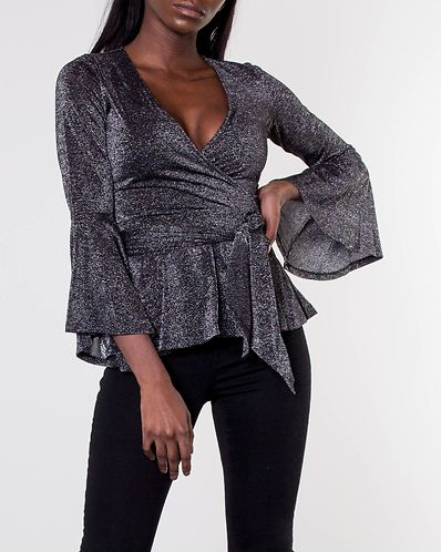 Avery Sparkling Top Black Silver. XS S. 77th Flea 36002b15b2