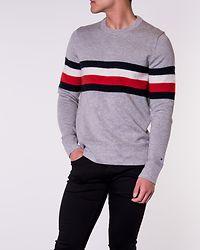 Soft Global Stripe Sweater Cloud Heather