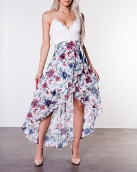 Floreale Highlow Dress Offwhite/Floral