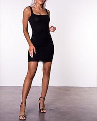 Gennie Square Neck Dress Black