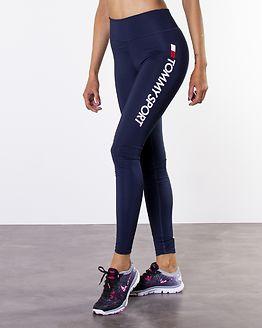 Highwaist Legging Logo Sport Navy
