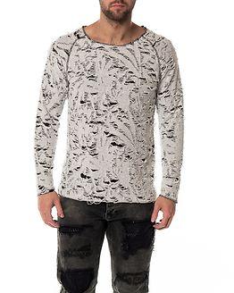 Destroyed Sweatshirt Grey/Black
