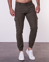 Paul Flake Linen Pants Olive Night