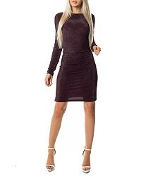 Libbo Dress Winetasting/Lurex Silver