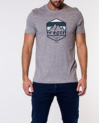 Denvers Tee Crew Neck Light Grey Melange
