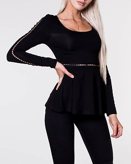 Wendy Ladder Lace Top Black