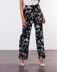 Simply Easy High Waist Wide Pant Black/Isa