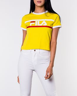 Ashley Cropped Tee Empire Yellow