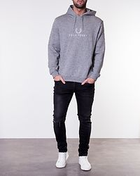 Embroidered Hooded Sweatshirt Steel Marl