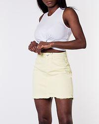 Anica Skirt Raw Hem Mellow Yellow