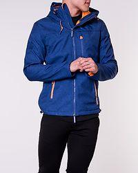 Hooded Windtrekker Royal Marl/Orange