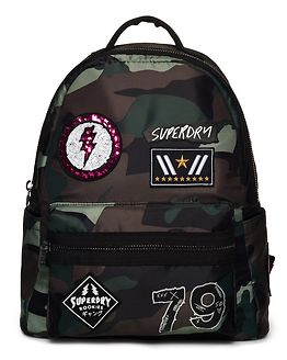 Midi Punk Backpack Patched Camo